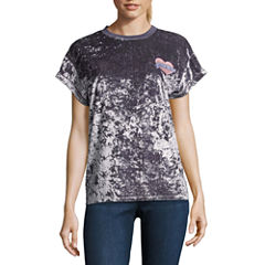 Velvet Graphic T-Shirt- Juniors