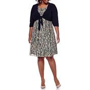 Perceptions 3/4-Sleeve Lace Jacket Dress - Plus