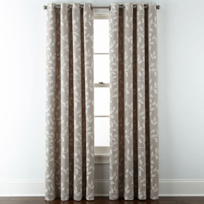 JCPenney Home™ Quinn Leaf Grommet Top Curtain Panel