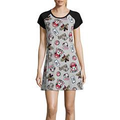 Disney Jersey Short Sleeve Scoop Neck Nightshirt-Juniors