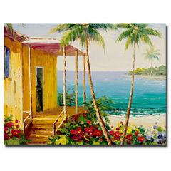 Key West Villa Canvas Wall Art