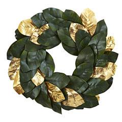 "22"" Golden Leaf Magnolia Wreath"