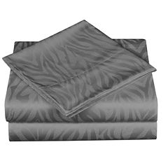 Cathay Home 300tc Zebra Jacquard Sheet Set