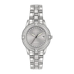 Citizen® Eco-Drive® Silhouette Womens Crystal-Accent Stainless Steel Bracelet Watch FE1150-58H