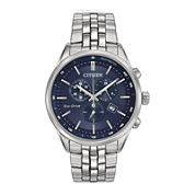 Citizen® Eco-Drive® Mens Stainless Steel Chronograph Watch AT2141-52L