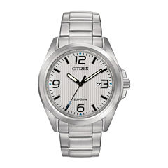 Citizen® Eco-Drive® Mens Silver-Tone Dial Stainless Steel Watch AW1430-86A