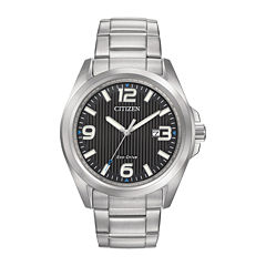 Citizen® Eco-Drive® Mens Black Dial Stainless Steel Watch AW1430-86E