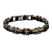 Inox® Mens Two-Tone Stainless Steel Link Bracelet