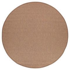 Couristan® Saddle Stitch Indoor/Outdoor Round Rug