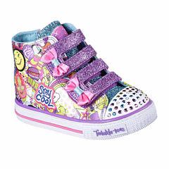 Skechers Twinkle Toes Shuffles Girls Sneakers - Toddler