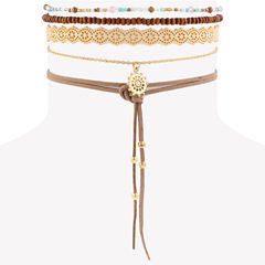 Decree Womens Clear Choker Necklace