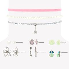 Decree Womens 9-pc. White Jewelry Set