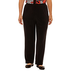Alfred Dunner Saratoga Springs Woven Flat Front Pants-Plus