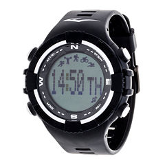 Everlast Black and White Pedometer Watch