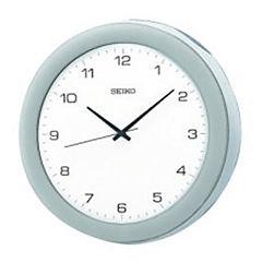 Seiko® Metalic Silver Wall Clock QXA137SLH