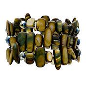 Mixit™ Olive 3-Row Shell Bracelet