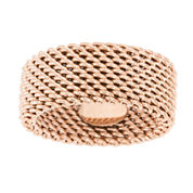Rose IP Stainless Steel Mesh Eternity Band Ring