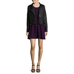 Arizona Moto Jacket or 3/4-Sleeve Babydoll Dress