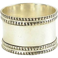 Set of 4 Silver-Tone Band Napkin Rings
