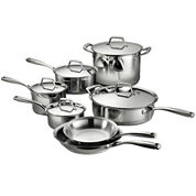 Tramontina Gourmet Prima 12-pc. 18/10 Stainless Steel Induction-Ready Cookware Set