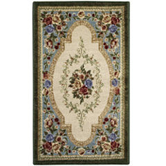 Estate Rose Washable Rectangular Rug