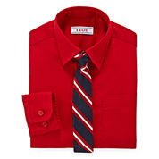 IZOD® Shirt and Clip-On Tie Set - Preschool Boys 4-7