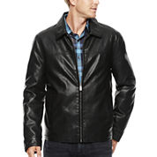 Dockers® Classic Open-Bottom Faux-Leather Coat