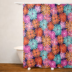 Crayola Dreaming of Daisies No Liner Shower Curtain