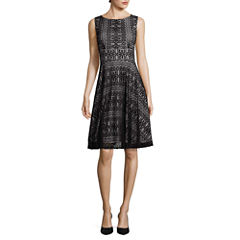 Danny & Nicole® Sleeveless Lace Fit-and-Flare Dress
