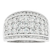 Womens 2 CT. T.W. White Diamond 10K Gold Wedding Band