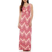 St. John's Bay® Sleeveless Maxi Dress - Petite