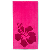 Cambridge™ Towel Hibiscus 2-pc. Printed Beach Towel Set