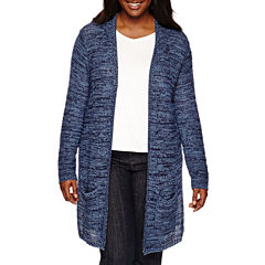 Arizona Marl Hooded Cardigan - Juniors Plus