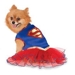 Supergirl Tutu Pet Costume M