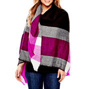 Mixit™ Oversized Checked Blanket Wrap