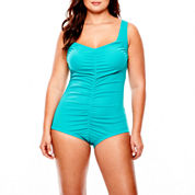 Azul by Maxine of Hollywood 1-Piece Spa Swimsuit - Plus