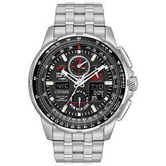 Citizen Mens Silver Tone Strap Watch-Jy8050-51e