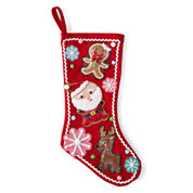 North Pole Trading Co. Gingerbread Stocking