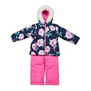 Carter's® Pink Floral Long-Sleeve Coat - Toddler Girls 2t-5t
