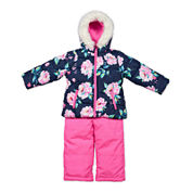 Carter's® Pink Floral Long-Sleeve Hooded Coat - Baby Girls newborn-24m