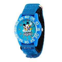 Disney Mickey Mouse Boys Blue Strap Watch-Wds000218