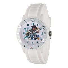Disney Descendants Womens White Strap Watch-Wds000244