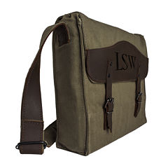 Personalized Canvas Messenger Bag