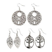 Arizona Leaf Life Tree Drop 3-pr. Earring Set