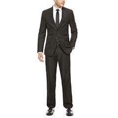 JF J. Ferrar Black Box Check Suit Separates-Slim Fit