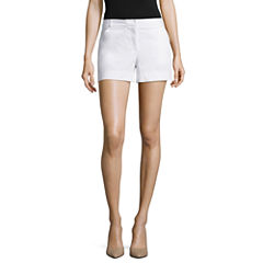 nicole by Nicole Miller® Stretchable Woven Shorts