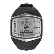 Polar® FT60M Mens Heart-Rate Monitor Chronograph Black Strap Watch