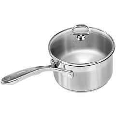 Chantal® Induction 21 Steel™ 2-qt. Saucepan with Glass Lid