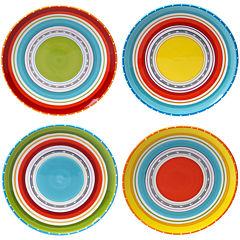 Certified International Mariachi Set of 4 Dinner Plates
