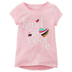 Carter's Short Sleeve Crew Neck T-Shirt-Preschool Girls